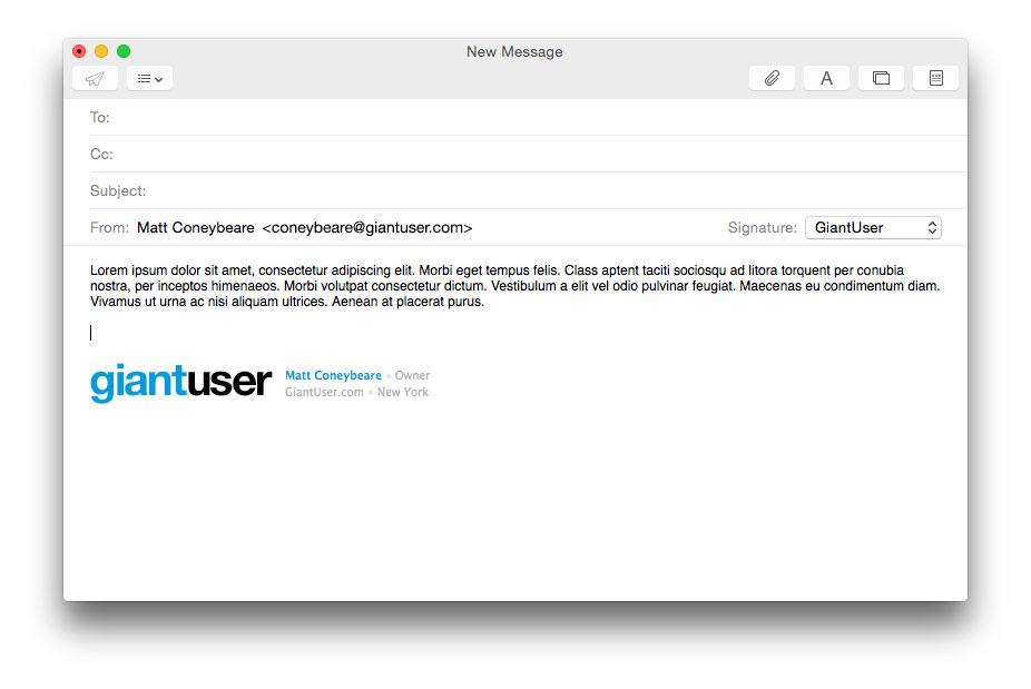 Make html signature mac mail
