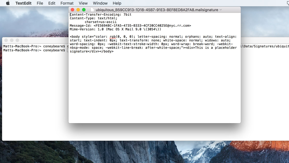 How to Make an HTML Signature in Apple Mail for Sierra OS X